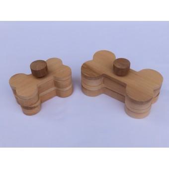 Drvena igračka za pse - Kost 2