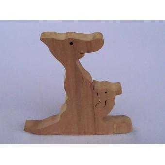 Drvene puzzle - Klokan