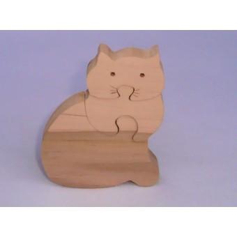 Drvene puzzle - Mačka