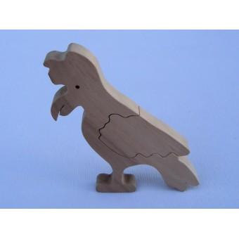 Drvene puzzle - Papiga