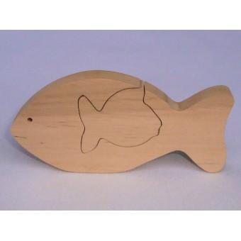 Drvene puzzle - Riba u ribi