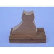 Drvene slagalice na štapiću - Mačka