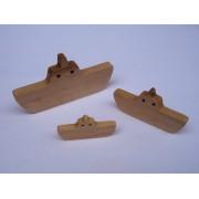 Drvena igračka - vozilo bez kotača - Brod