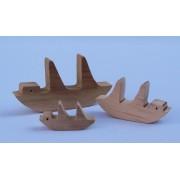 Drvena igračka - vozilo bez kotača - Jedrenjak 2
