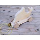 Drvena igračka - životinja za vući - Delfin
