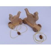 Drvena igračka - životinja za vući - Dinosaur