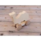 Drvena igračka -  životinja na kotačima - Deva