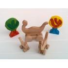 Drvena igračka -  životinja na kotačima - Dino