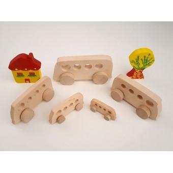 Drvena igračka - vozilo - Kombi