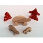 Drvena igračka -  životinja na kotačima - Kornjača
