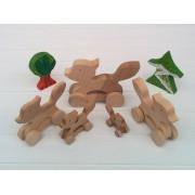 Drvena igračka - životinja na kotačima - Lisica