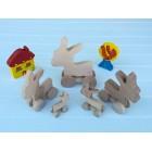 Drvena igračka - životinja na kotačima - Magarac