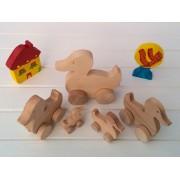 Drvena igračka - životinja na kotačima - Patka