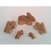 Drvena igračka - životinja na kotačima - Zec