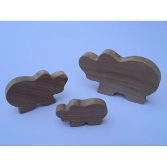 Drvena životinja - Hippo
