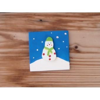 Drvena sličica - mala - Snjegović