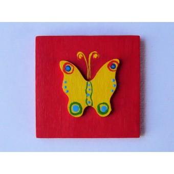 Drvena sličica - srednja - Leptir