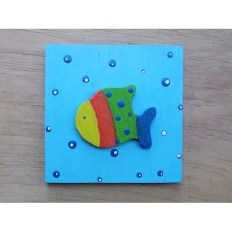 Drvena sličica - srednja - Riba