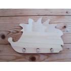 Drvena vješalica - mala - Jež