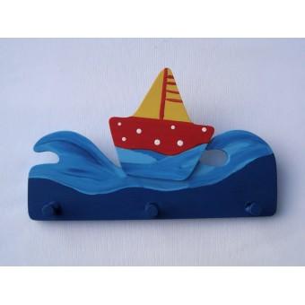 Drvena vješalica - mala - More i jedrilica 1
