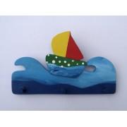 Drvena vješalica - mala - More i jedrilica 2