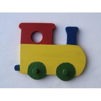 Drvena vješalica - mala - Vlak 2