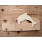 Drvena vješalica - velika - More i delfin