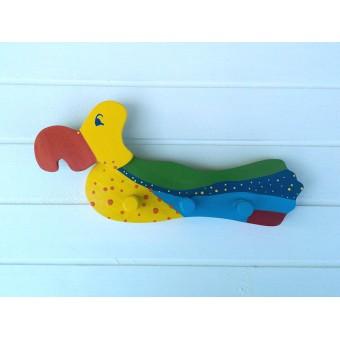 Drvena vješalica - velika - Papiga
